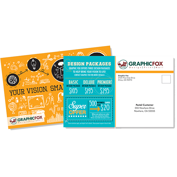 Free address imprinting with direct mail postcards a 70 value